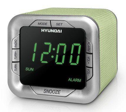 Радиобудильник HYUNDAI H-1505, белая подсветка,  салатовый