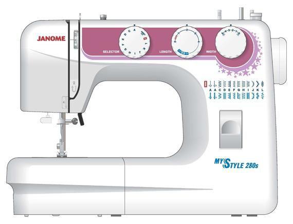 Швейная машина JANOME My Style 280s белый [280ms]