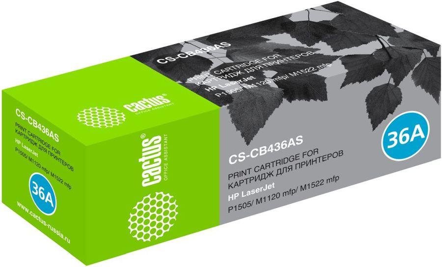 Картридж CACTUS CS-CB436AS, черный