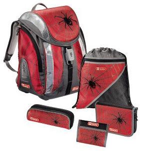 Ранец Step By Step Flexline Black Widow красный/серый паук 5 предметов [00119714]