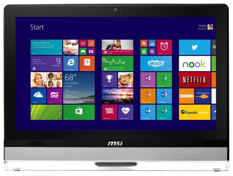 Моноблок MSI AE221-021, Intel Pentium Dual-Core G3220, 4Гб, 500Гб, Intel HD Graphics, DVD-RW, Windows 8.1, черный [9s6-ac9511-021]