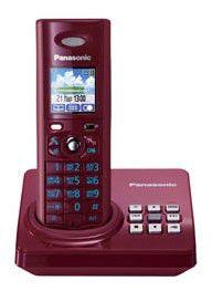 Радиотелефон PANASONIC KX-TG8225RUR,  красный