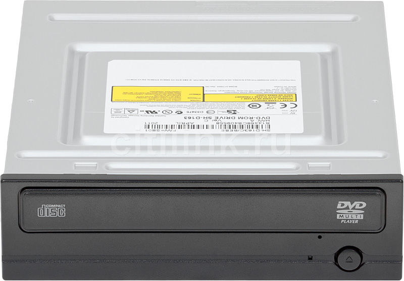 Оптический привод DVD-ROM SAMSUNG SH-D163B/С/BEBE, внутренний, SATA, черный,  OEM
