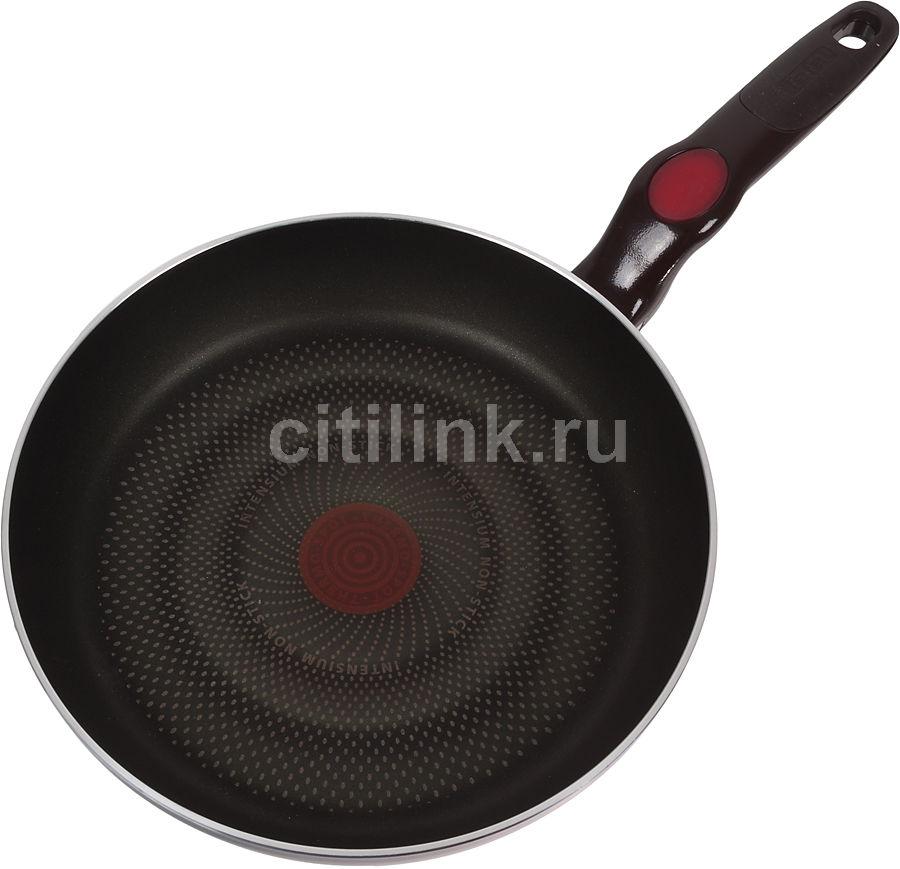 Сковорода TEFAL ComfortTouch D8210412, 240см, без крышки,  коричневый