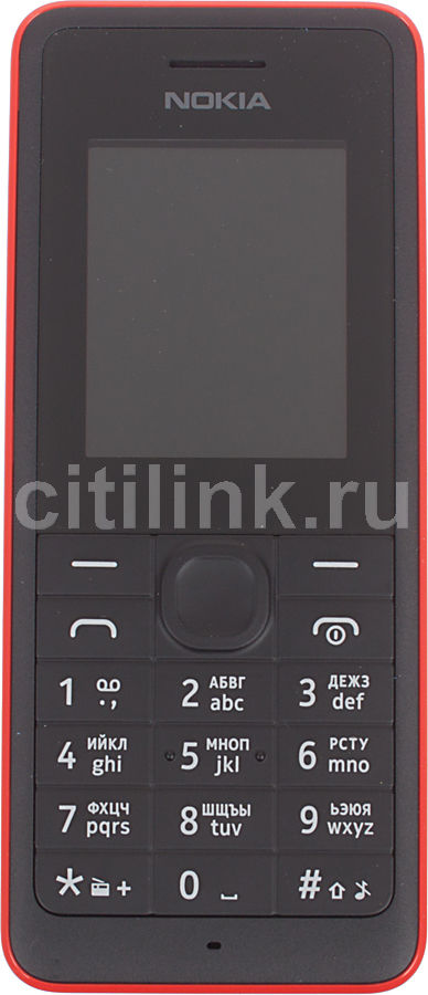 Мобильный телефон NOKIA 107 красный