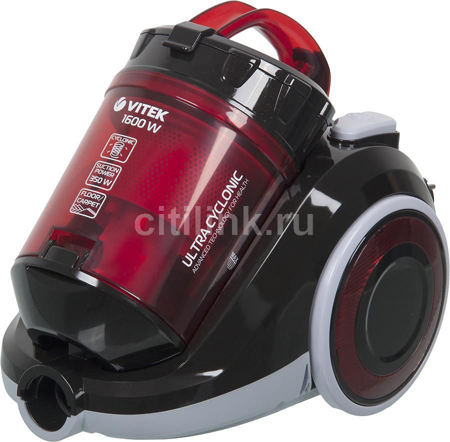 Пылесос VITEK VT-1820 R, 1600Вт, красный