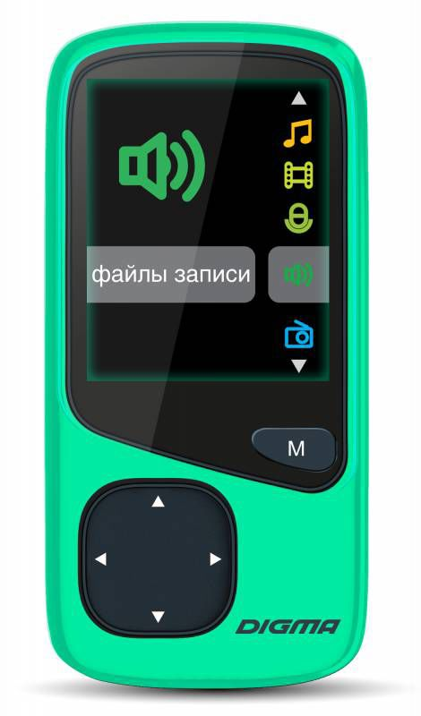 MP3 плеер DIGMA Cyber 1 flash 4Гб зеленый [cyb-1-4-gn]