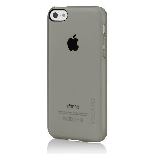 Чехол (клип-кейс) INCIPIO Feather Clear (IPH-1142-SMK), для Apple iPhone 5c, серый
