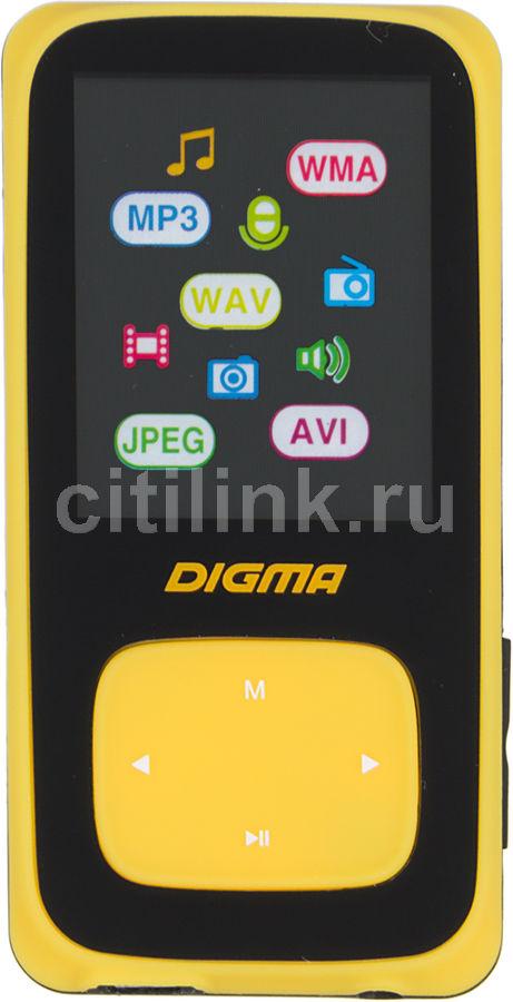 MP3 плеер DIGMA Cyber 2 flash 4Гб желтый