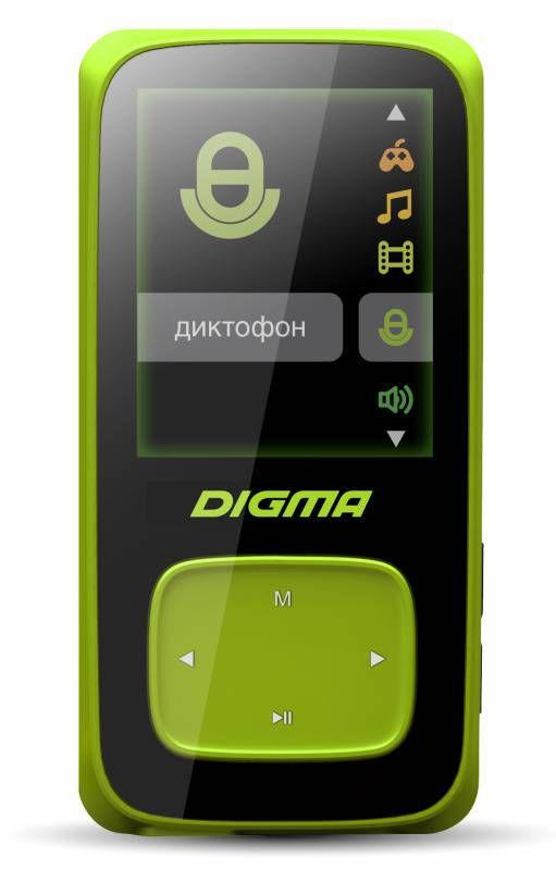 MP3 плеер DIGMA Cyber 2 flash 4Гб зеленый