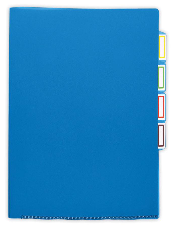 Папка-уголок Бюрократ -E356BLUE 3 уровн. A4 пластик 0.15мм синий