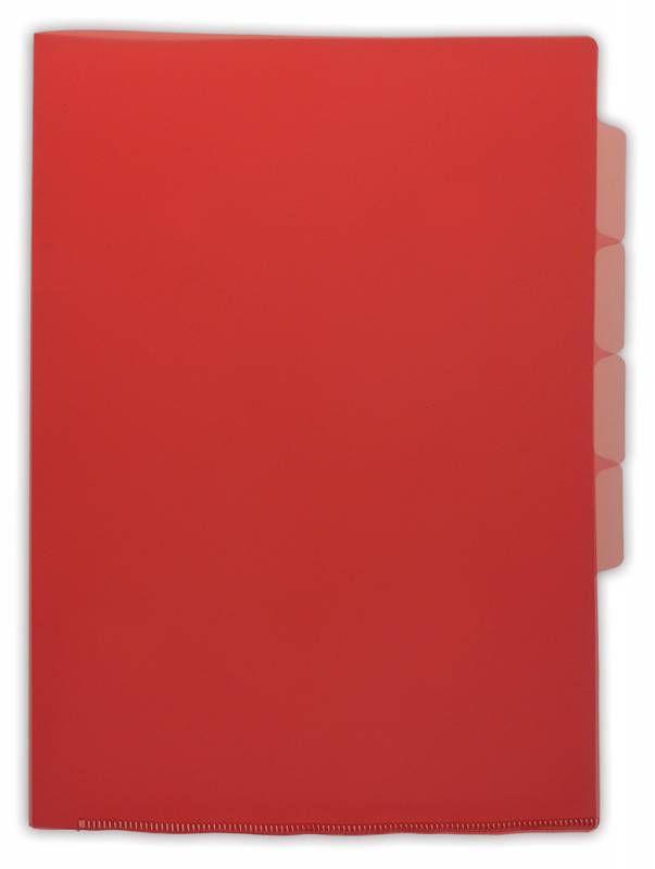 Папка-уголок Бюрократ -E366RED 5 уровн. A4 пластик 0.15мм красный