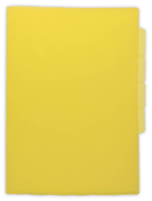 Папка-уголок Бюрократ -E366YEL 5 уровн. A4 пластик 0.15мм желтый