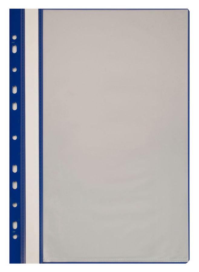 Папка-скоросшиватель Бюрократ -PS10BLUE A4 10 вкладышей боков.перф. пластик синий
