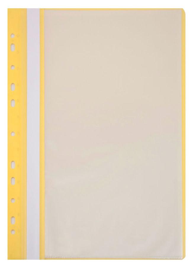 Папка-скоросшиватель Бюрократ -PS10YEL A4 10 вкладышей боков.перф. пластик желтый 0.12/0.16