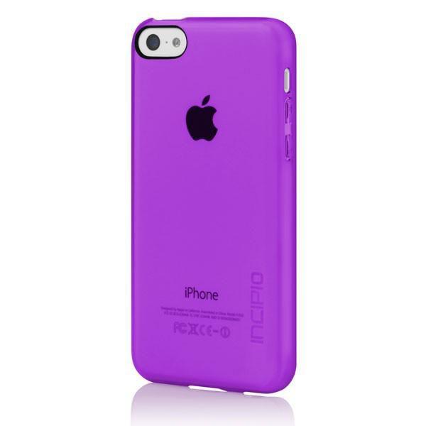 Чехол (клип-кейс) INCIPIO Feather Clear (IPH-1142-PRP), для Apple iPhone 5c, фиолетовый
