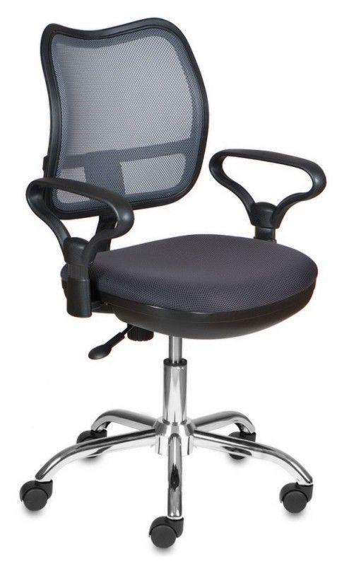 Кресло БЮРОКРАТ CH-799SL, на колесиках, ткань, темно-серый [ch-799sl/dg/tw-12]