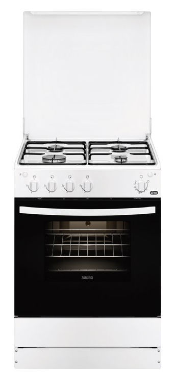 Газовая плита ZANUSSI ZCG961021W,  газовая духовка,  белый
