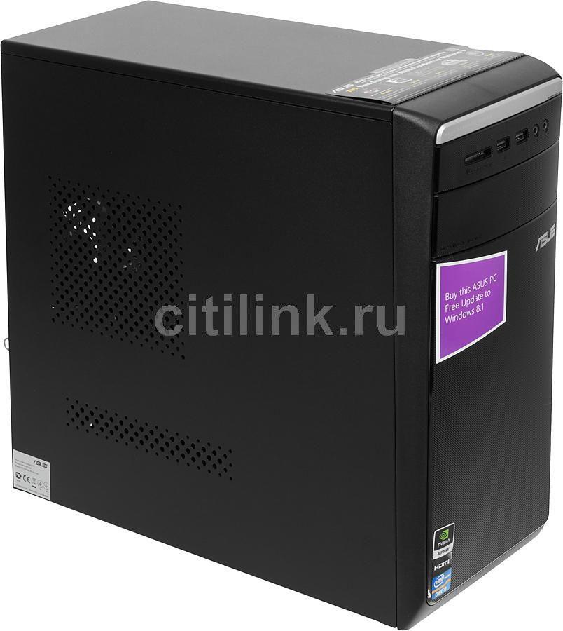 Компьютер  ASUS M11AA,  Intel  Core i3  3240,  DDR3 4Гб, 1000Гб,  nVIDIA GeForce GT630 - 2048 Мб,  DVD-RW,  CR,  Windows 8,  черный и серебристый [90pd0052-m01530]