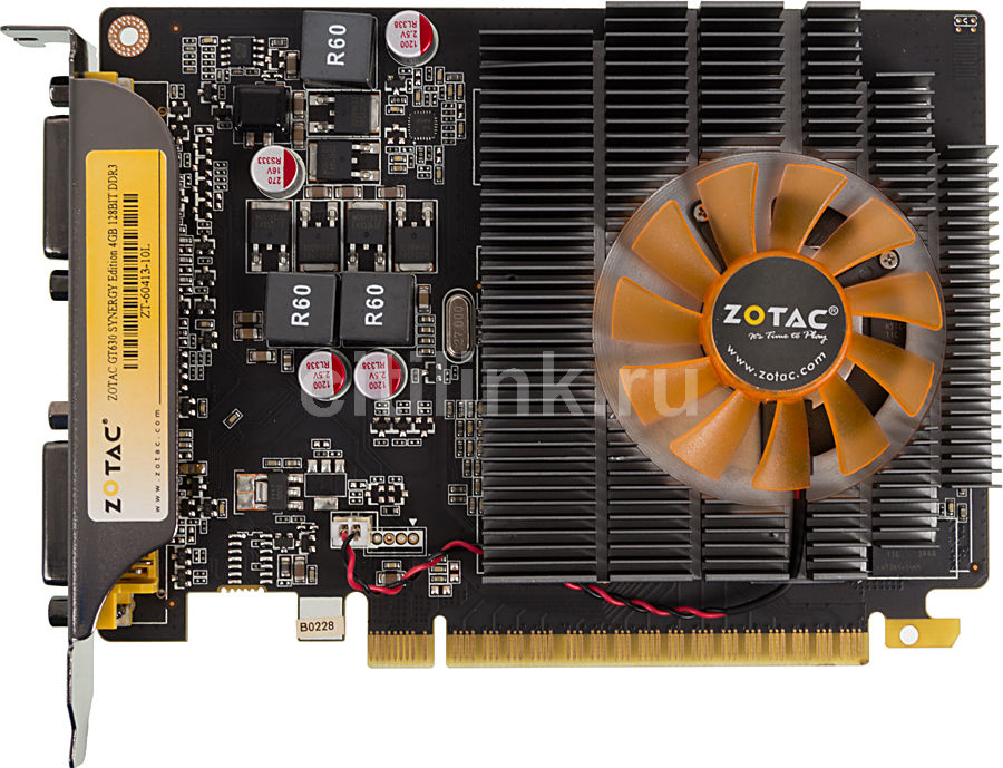 Видеокарта ZOTAC GeForce GT 630 Synergy Edition, ZT-60413-10L,  4Гб, DDR3, OC,  Ret