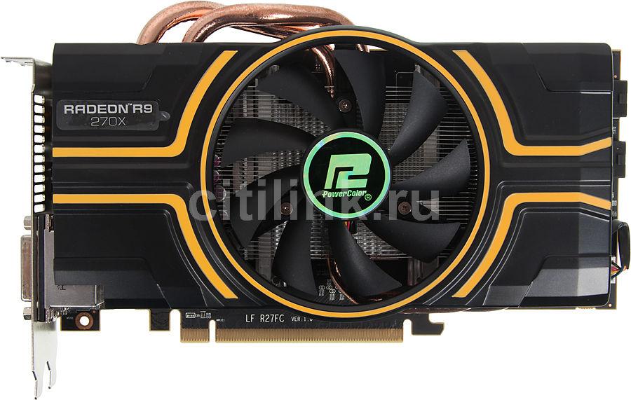 Видеокарта POWERCOLOR AMD  Radeon R9 270X ,  2Гб, GDDR5, OC,  Ret [axr9 270x 2gbd5-dh/oc]
