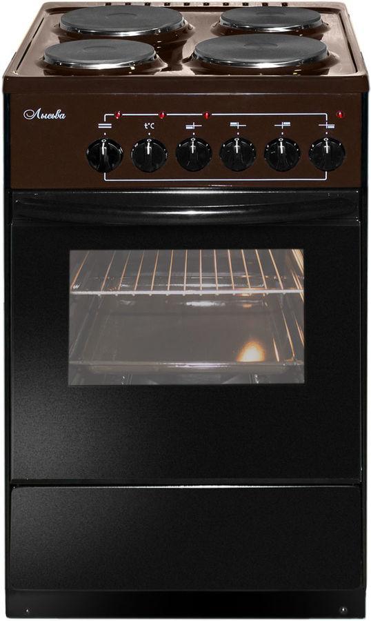 Электрическая плита ЛЫСЬВА ЭП 402,  эмаль,  коричневый