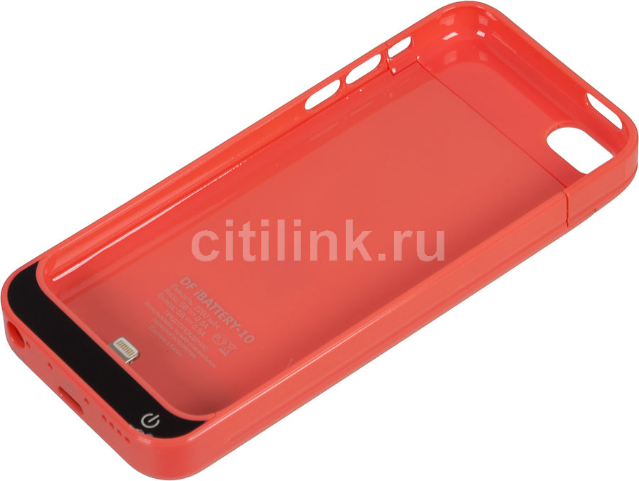 Чехол-аккумулятор DF iBattery-10, 2200 мАч, для Apple iPhone 5c, розовый