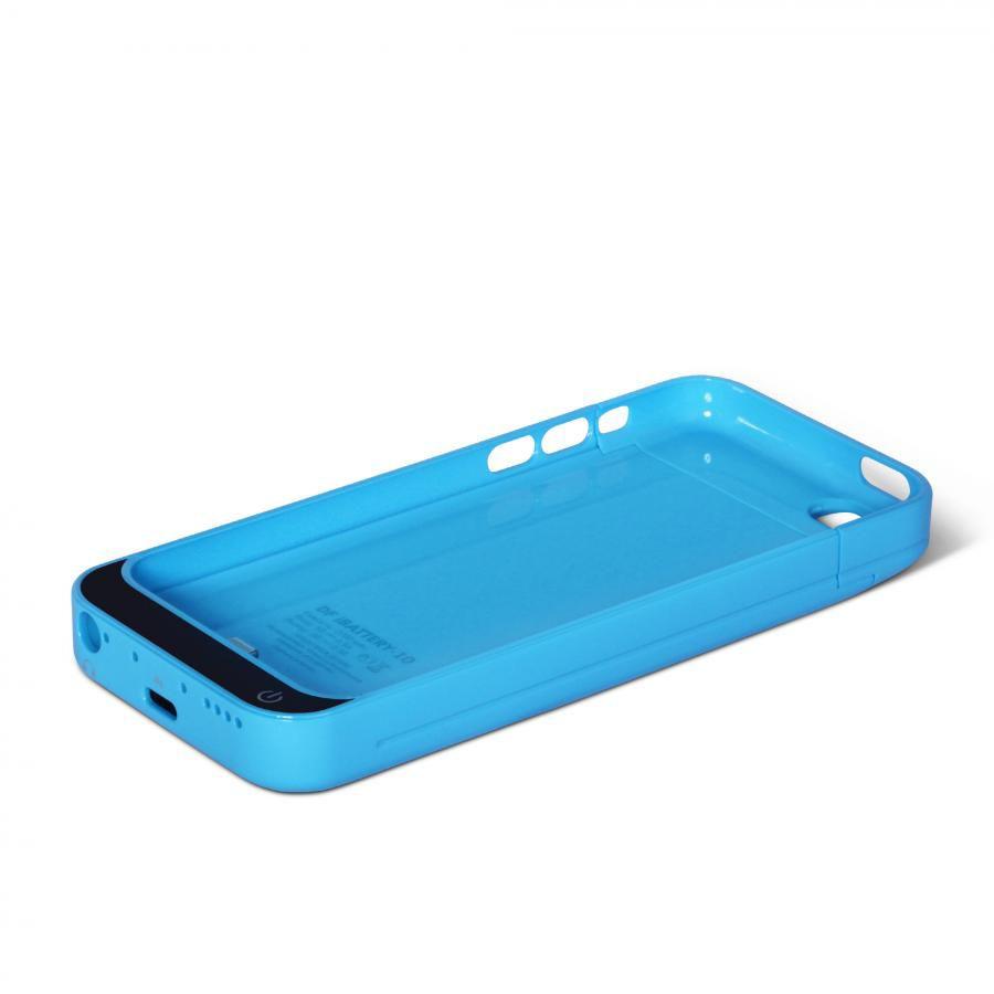 Чехол-аккумулятор DF iBattery-10, 2200 мАч, для Apple iPhone 5c, синий
