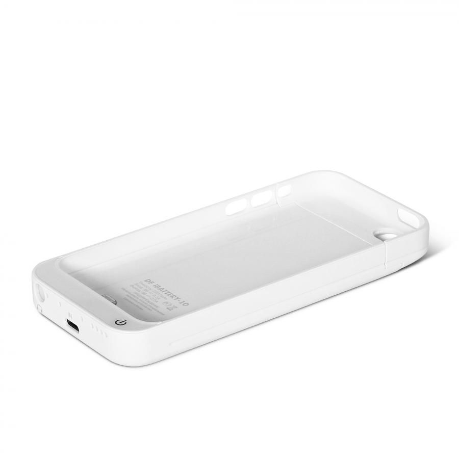 Чехол-аккумулятор DF iBattery-10, 2200 мАч, для Apple iPhone 5c, белый