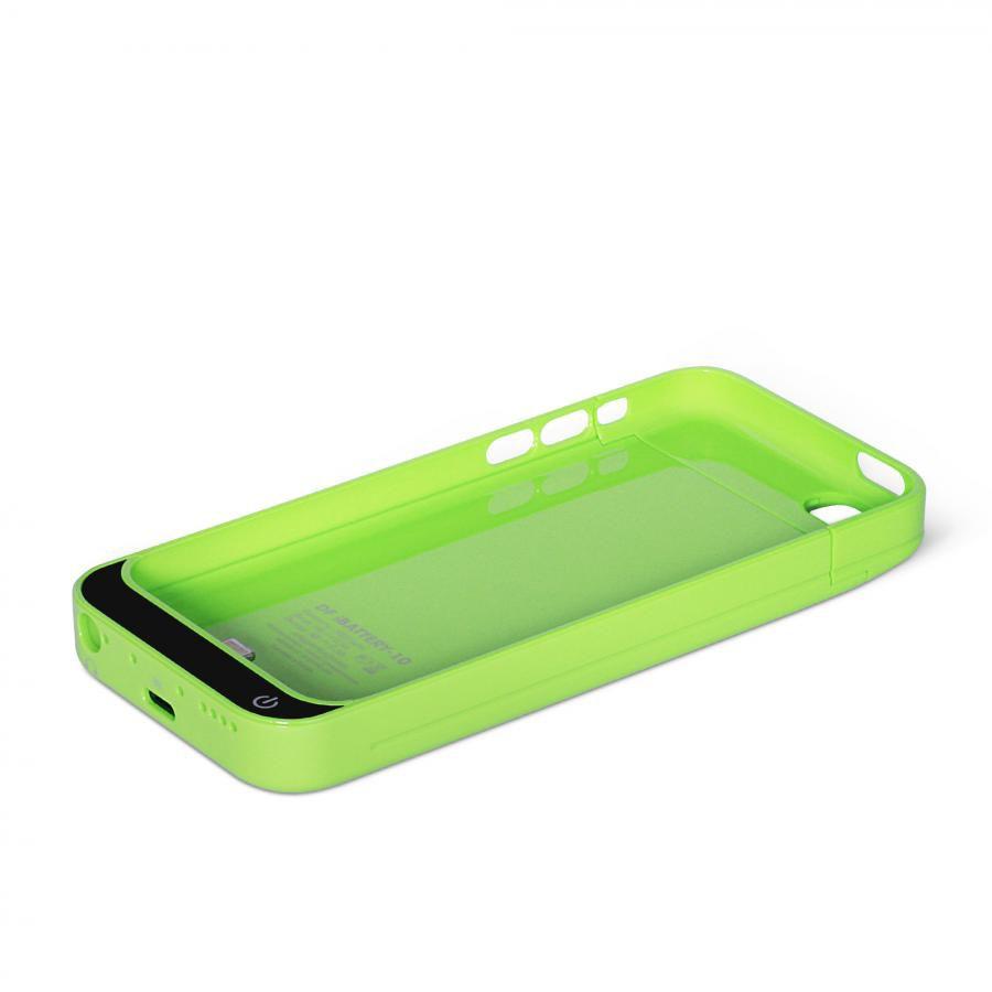 Чехол-аккумулятор DF iBattery-10, 2200 мАч, для Apple iPhone 5c, зеленый