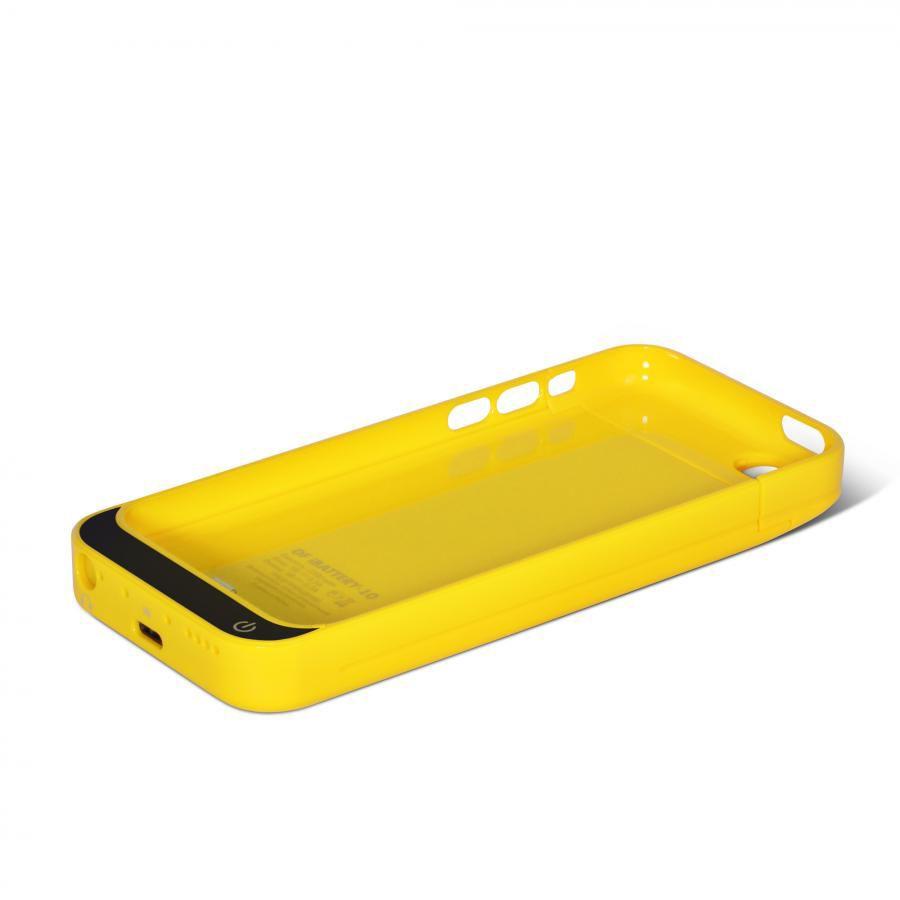 Чехол-аккумулятор DF iBattery-10, 2200 мАч, для Apple iPhone 5c, желтый