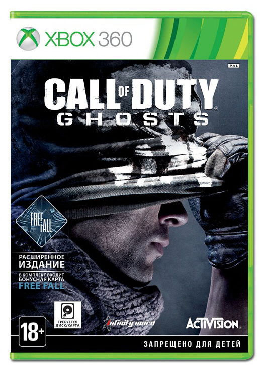 Игра NEW DISC Call of Duty Ghosts. Free Fall Edition для  Xbox360 Rus