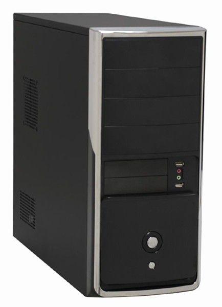 Корпус ATX FOXCONN ZL-699, 400Вт,  черный и серебристый