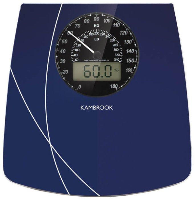 Весы KAMBROOK KSC305, до 180кг, цвет: синий