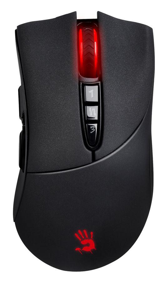 Мышь A4 Bloody R3, игровая, оптическая, беспроводная, USB, черный