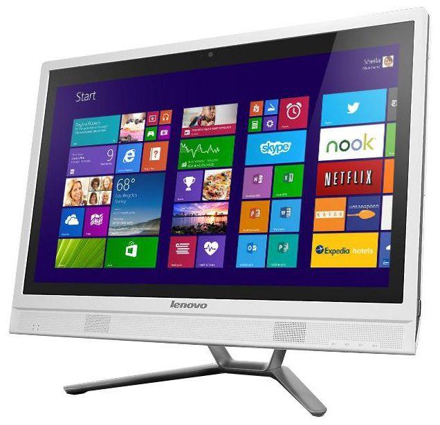 Моноблок LENOVO C360, Intel Pentium Dual-Core G3220T, 4Гб, 500Гб, nVIDIA GeForce 705M - 2048 Мб, DVD-RW, Windows 8.1, белый [57321423]