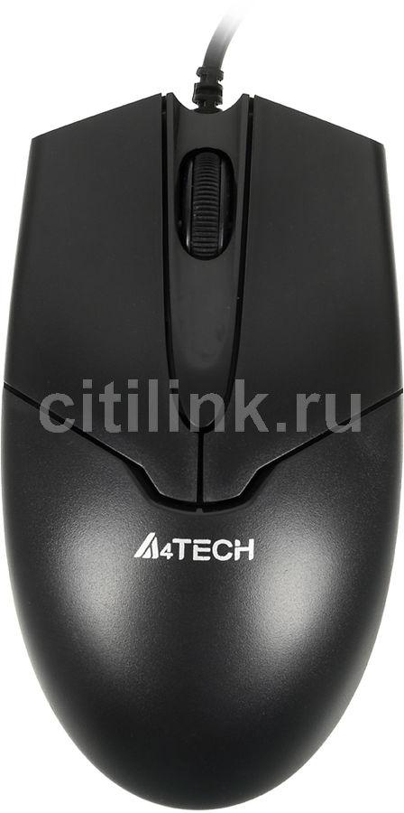 Мышь A4 V-Track Padless OP-550NU, оптическая, проводная, USB, черный