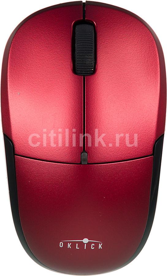Мышь OKLICK 575SW+ оптическая беспроводная USB, красный