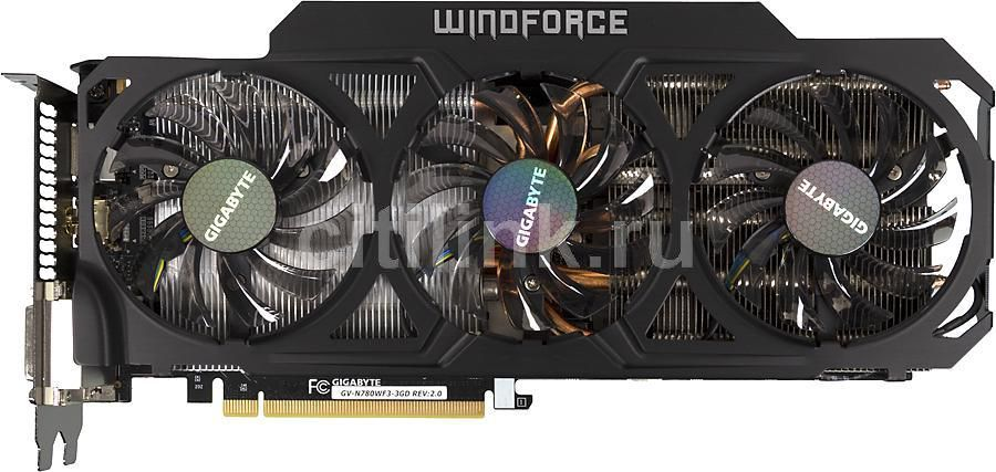 Видеокарта GIGABYTE GeForce GTX 780, GV-N780WF3-3GD,  3Гб, GDDR5, Ret