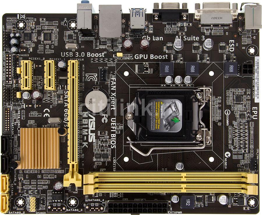 Материнская плата ASUS H81M-K, LGA 1150, Intel H81, mATX, Ret