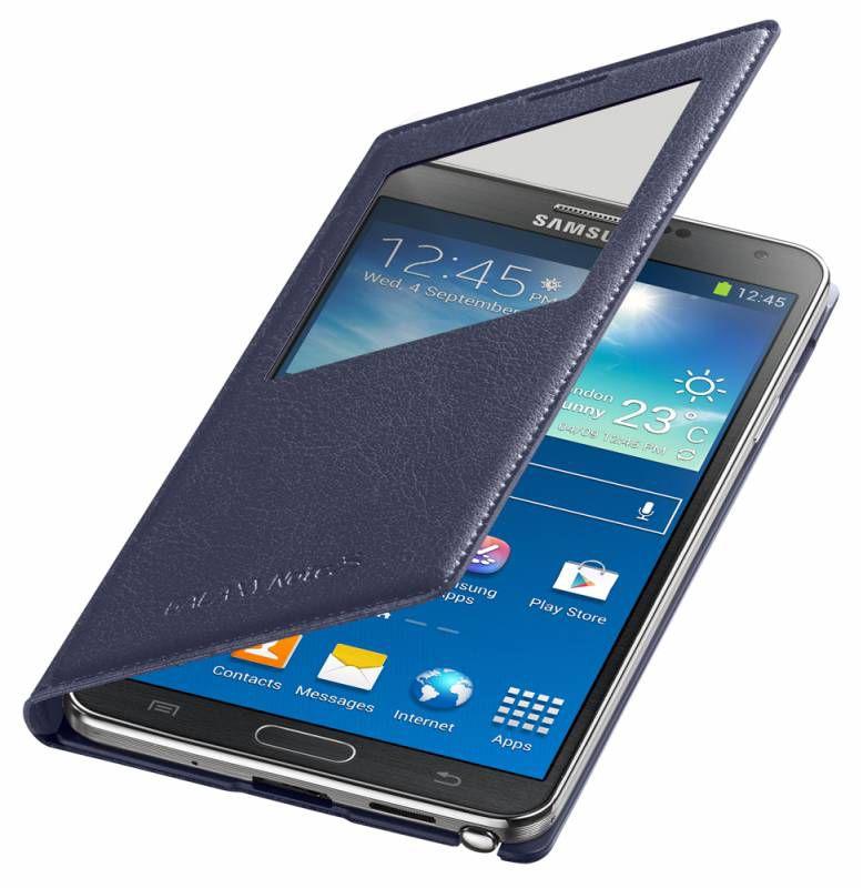 Чехол (флип-кейс) SAMSUNG S View Cover (EF-CN900BVEGRU), для Samsung Galaxy Note 3, фиолетовый