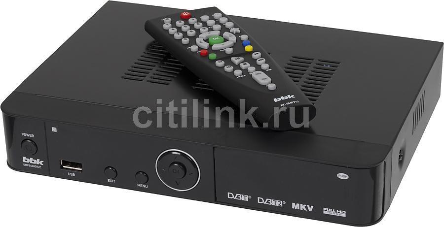 Ресивер DVB-T2 BBK SMP245HDT2C,  черный
