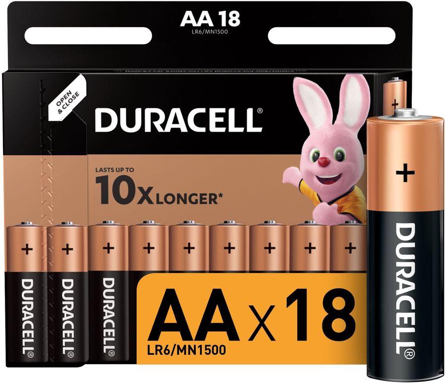 AA Батарейка DURACELL Basic LR6-18BL,  18 шт.