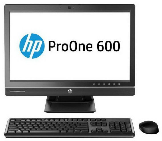 Моноблок HP ProOne 600 G1, Intel Pentium G3220, 4Гб, 500Гб, Intel HD Graphics, DVD-RW, Free DOS, черный [f3w98ea]
