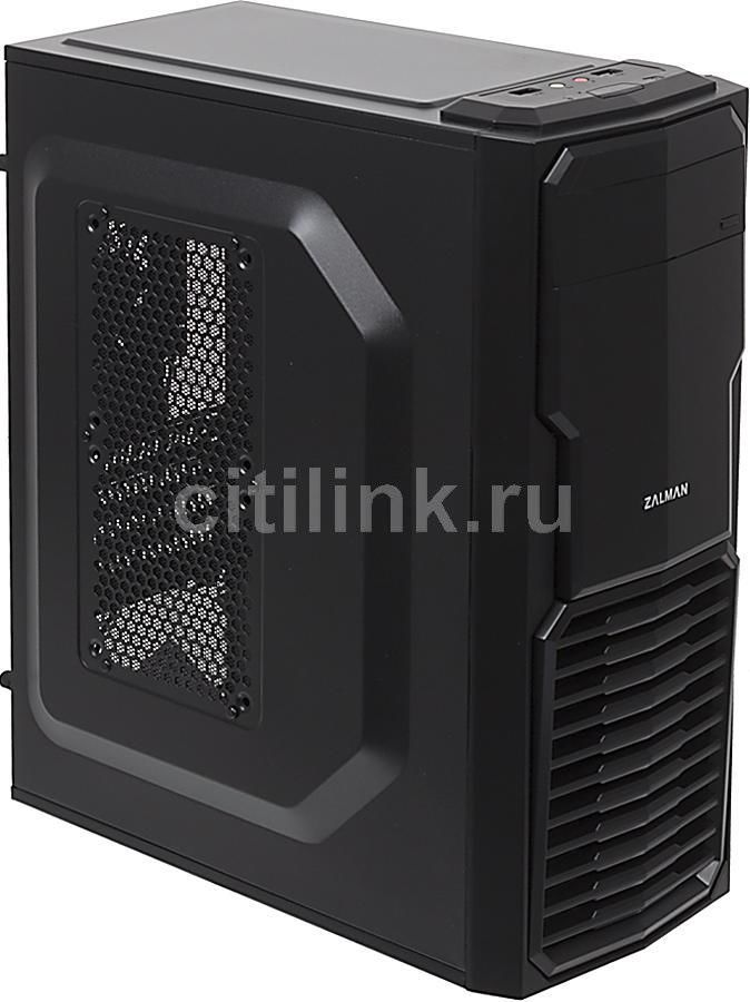 Корпус mATX ZALMAN ZM-T4, Mini-Tower, без БП,  черный