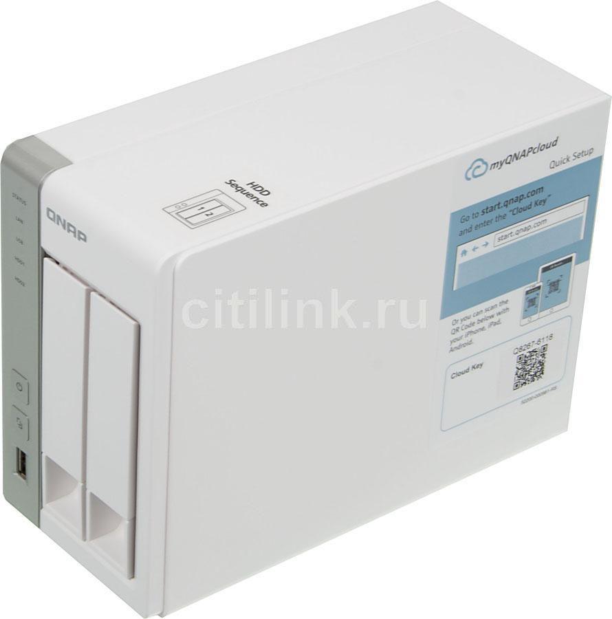 Сетевое хранилище QNAP TS-220,  без дисков