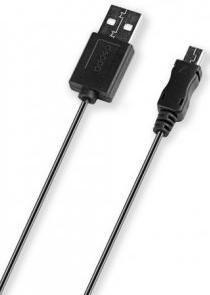 Кабель DEPPA 72104,  1.2м, черный,  USB -  miniUSB
