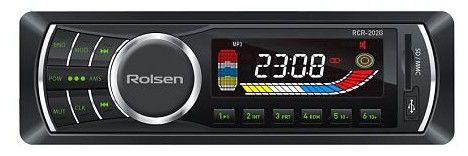 Автомагнитола ROLSEN RCR-202B,  USB,  SD/MMC