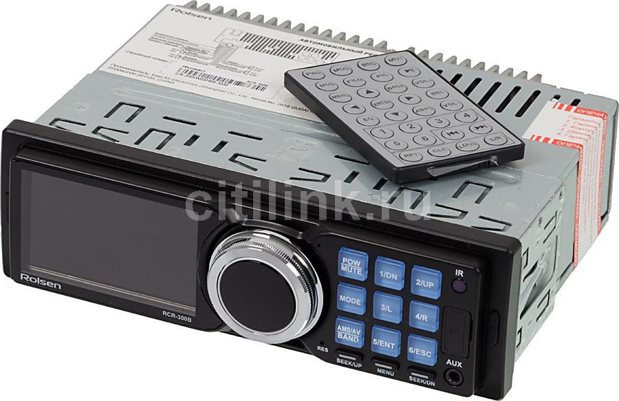 Автомагнитола ROLSEN RCR-300B,  USB,  SD/MMC