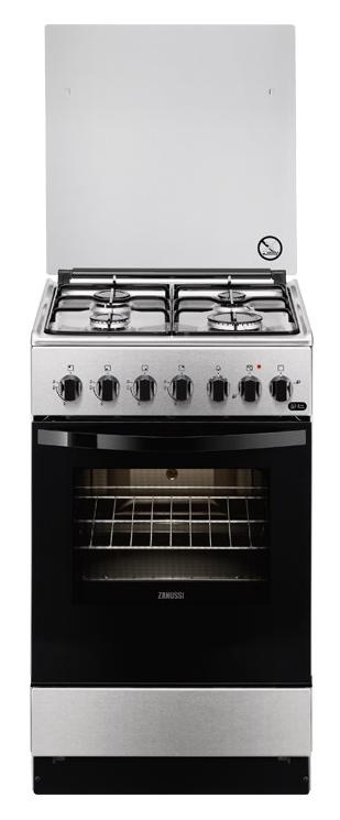 Газовая плита ZANUSSI ZCK 924201 X,  электрическая духовка,  серебристый [zck924201x]